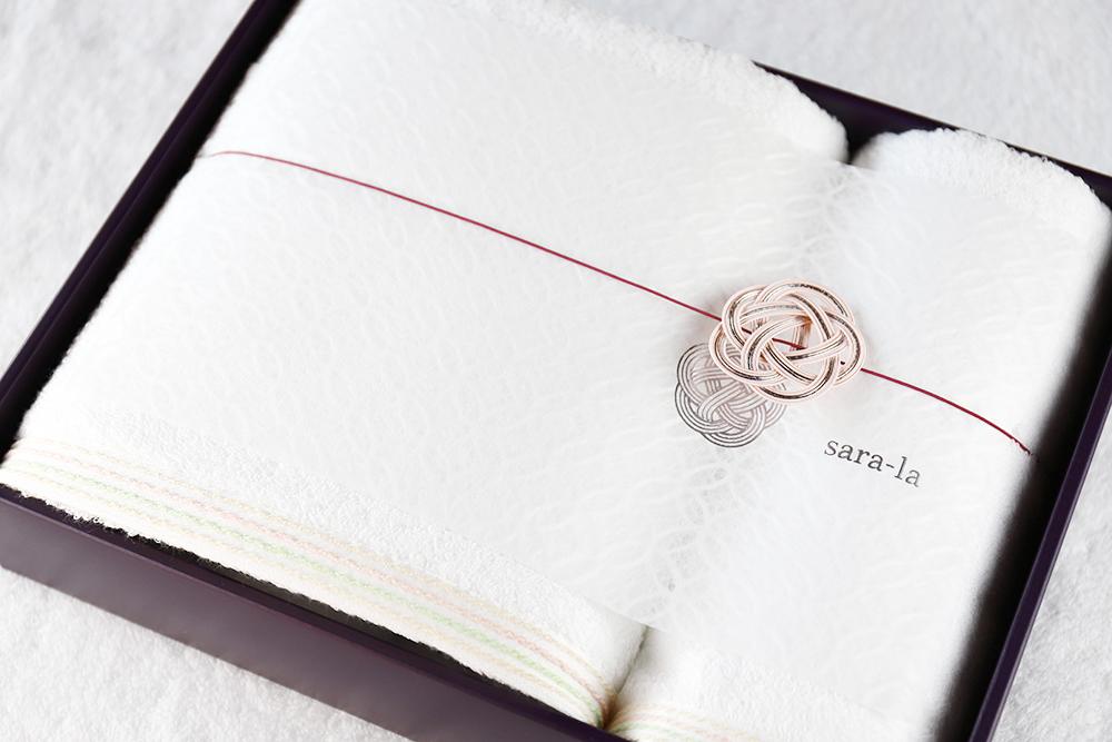 sara-la「縁・en」ギフト バスタオル×1 フェイスタオル×1