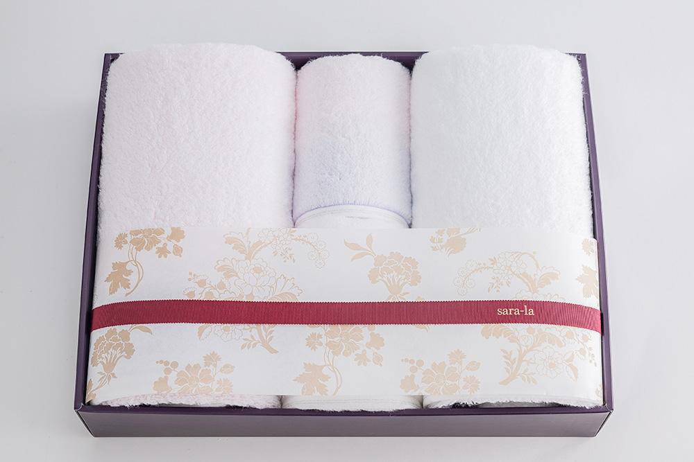 やわらかい高級今治タオルsara-la「彩・irodori」バスタオル2×フェイスタオル2のピンクセット写真